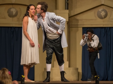 Juliet (Christel Chapman), Paris (Aaron Richardson), Page (Phodiso Dintwe)