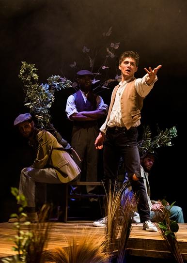 Orlando (Joshua Ogle) and trees (Robert Raeder, Kerry Hall, Eddie Bijl)