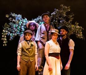 Silvius (Kate Handford), William (Eddie Bijl), Corin (Gemma Clough), Phebe (Hephzibah Roe), Amiens (Simon Prag)