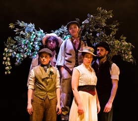 Silvius (Kate Handford), William (Eddie Bijl), Corin (Gemma Clough), Phebe (Hephzibah Roe), Amiens (Simon Prag)