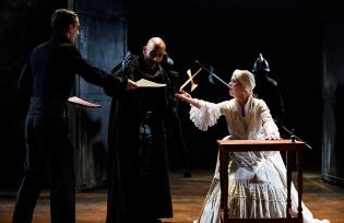 Davison (Rowan Williams), Shrewsbury (Chris Kyriacou) and Elizabeth (Katharine Bubbear)