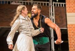 Desdemona (Jasmine Blackborow), Othello (Te Kohe Tuhaka)
