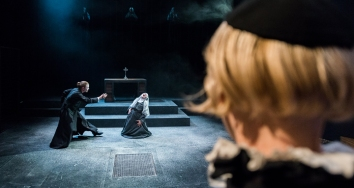 Father Tranquille (Alistair Bourne), Sister Jeanne (Georgia Bradley), Father Mignon (Henry Felix)
