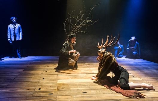 Jaques (Paula Rodriguez) and the Hunted Deer (Jasmine Blackborow)