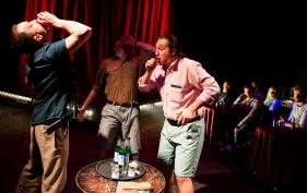 Belville (Michael Howlett), Frederick (George Rennie), Blunt (Harry Bradley)