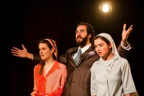 Florinda (Emily Waters), Don Pedro (Petros Dimotakis), Hellena (Ava Pickett)