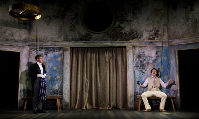 Sebastian (Darian Bengston), Cloten (Darcy Kent). Photo by Patrick Baldwin
